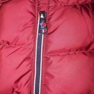 MONCLER WOMEN RED FOG VEST SIZE SMALL